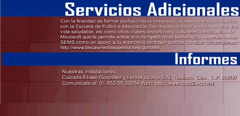 Servicios Adicionales - CBTis 2